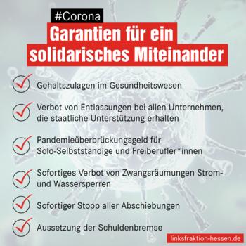 Maßnahmenkatalog Corona